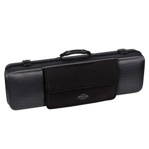"Jakob Winter violin case, 4/4 with detachable pocket in ""Carbon Design"""