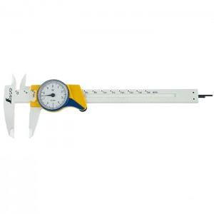 calibro in plastica 15 cm con orologio - Shinwa