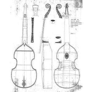 Drawing No. 23, Viola Basso 1624 Henry Jaye - England