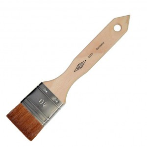 Habico pure Marten Kolinsky flat brushes