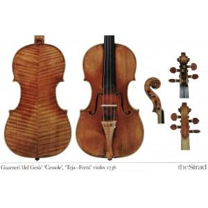 """Poster Guarneri del Gesù violin, """"Cessole"""" 1736"""