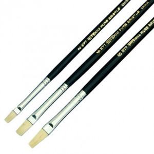 Eterna flat bristle brushes