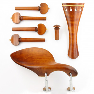 Superior violin set boxwood/boxwood, Baroque model