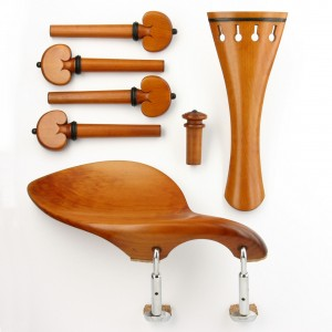 Set fitting violin boxwood/ebony heart model