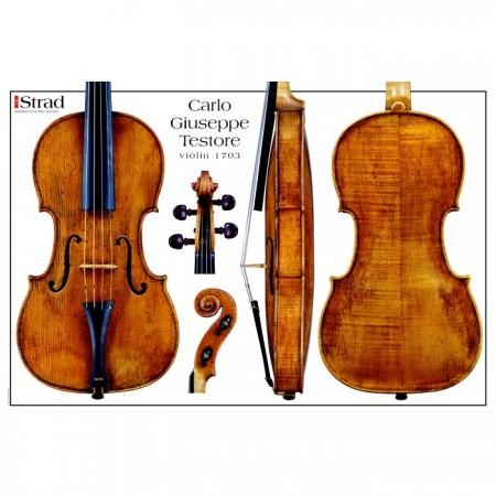 Poster Testore Carlo G. violin, 1703 c.