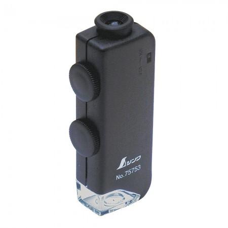Pocket Microscope H 60x - 100x with LED Light - Shinwa