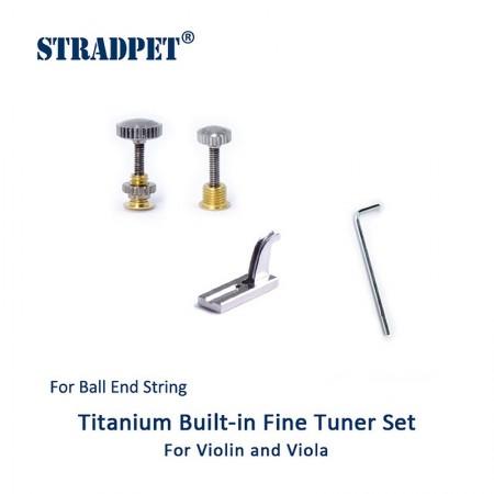 tiracantino integrato in titanio per pallino, set violino e viola