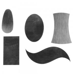 Rasiere modellate in acciaio giapponese, 5 pezzi