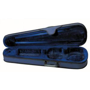 custodia violino sagomata blu/blu