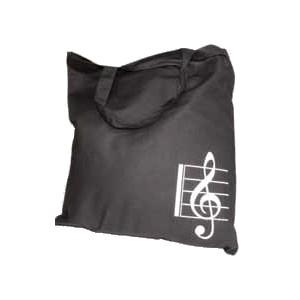 """Borsa in cotone nera """"Chiave di violino"""""""