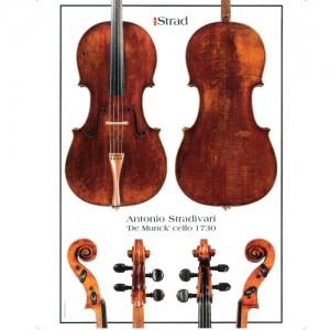 "Poster Stradivari Antonio cello, ""De Munck"" 1730"