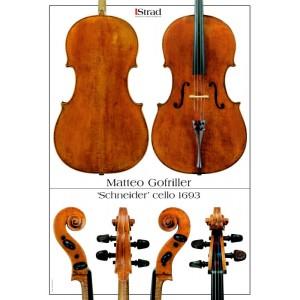 """Poster Goffriler cello, """"Schneider"""" 1693"""