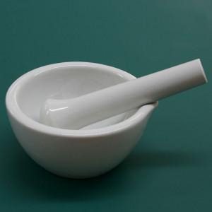 Mortaio in porcellana lucido con pestello Ø 110 mm