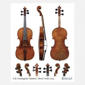 """Poster Guadagnini G.B. violin, 1774 """"Salabue"""", """"Berta"""""""
