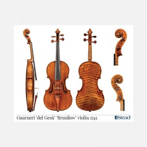 "Poster Guarneri del Gesù violin, ""Brusilow"" 1743"
