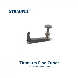 tiracantino in titanio violino 3/4-4/4, grigio grafite 1.0