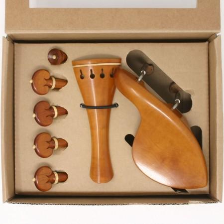 Superior violin boxwood/boxwood Heart set, titanium screws
