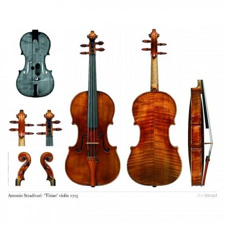 "Poster Stradivari Antonio violin, ""Titian"" 1715"