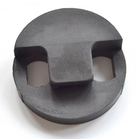 Round rubber bass mute