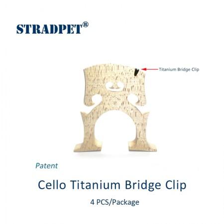 Titanium Cello Bridge Clip in gun gray, 4 pcs set