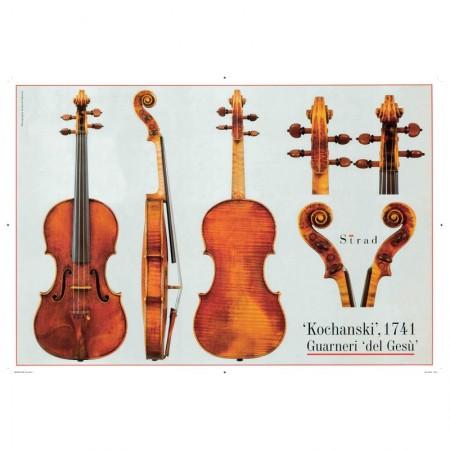 """Poster Guarneri del Gesù violin, """"Kochanski"""" 1741"""