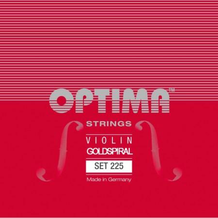 Optima Goldspiral, violin 225 set