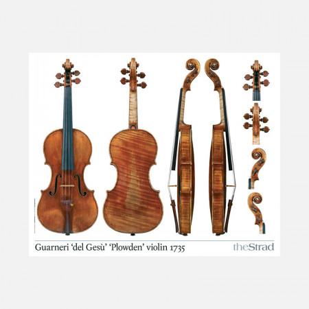 "Poster Guarneri del Gesù violin, ""Plowden"" 1735"