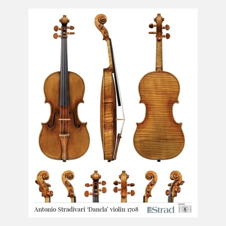 """Poster Stradivari Antonio violin, """"Dancla"""" 1708"""