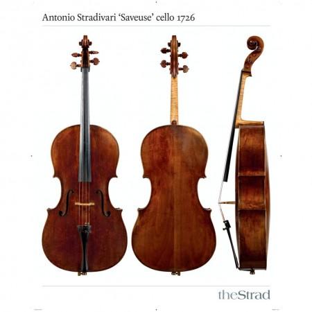 """Poster Stradivari Antonio cello, """"Saveuse"""" 1726"""