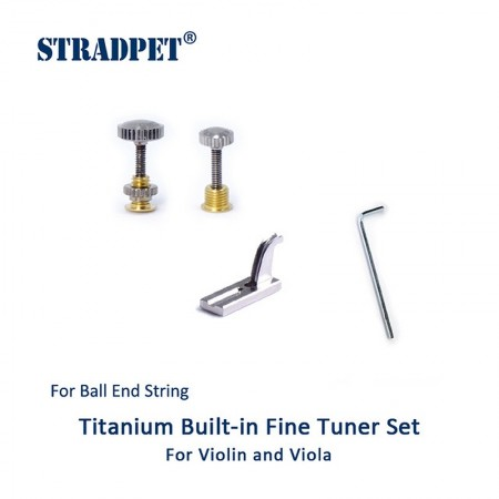Built-in Titanium fine tuner set for ball-end string, Violin and viola
