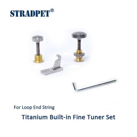 Built-in Titanium fine tuner set for loop-end string, Violin