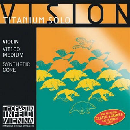 Thomastik Vision Titanium Solo violin VIT100 medium set