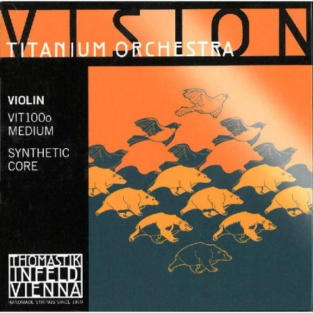 Thomastik Vision Titanium Orchestra violin VIT100o medium set