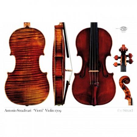 """Poster Stradivari Antonio violin, """"Viotti"""" 1709"""