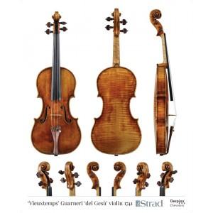 """Poster Guarneri del Gesù violin, """"Vieuxtemps"""" 1741"""
