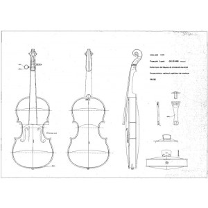Drawing No. 12 Violin Lupot 1772