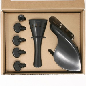 Superior violin ebony/ebony Heart set, titanium screws