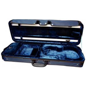 Custodia violino rettangolare blu/blu