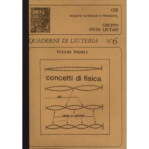 Quaderno n°  6 Concetti di Fisica (italian text)
