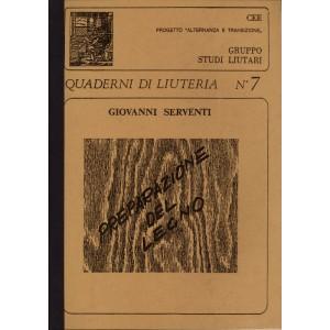 Quaderno n°  7 Preparazione del Legno (italian text)