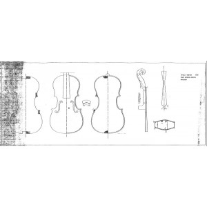 Drawing No. 18, Viola 420mm 1753 Carlo Antonio Testore - Milan
