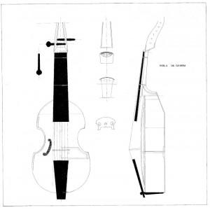Drawing No. 21, Viola da Gamba
