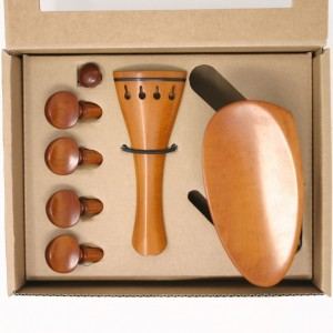 Superior violin boxwood/ebony Basic set, titanium screws