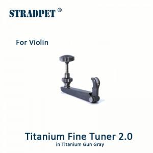 Titanium Fine Tuner, 3/4, 4/4 Violin, Gun Gray 2.0