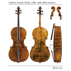 "Poster Andrea Amati ""King"" cello"
