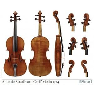 "Poster Stradivari Antonio violin, ""Cecil"" 1724"