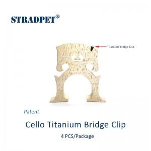 protezione tacche ponticello cello in titanio gun gray