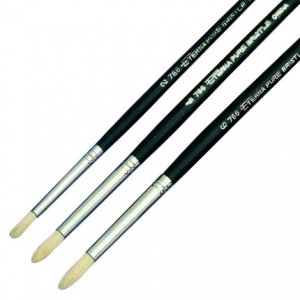 Eterna round bristle brushes