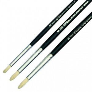 Eterna round bristle brushes