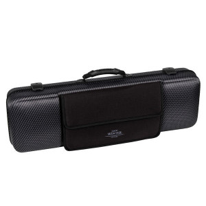 Jakob Winter violin case, 4/4 with detachable pocket in Carbon Design